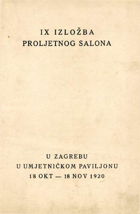 IX izložba Proljetnog salona