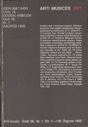 God. 26(1995), br. 1 : Arti musices