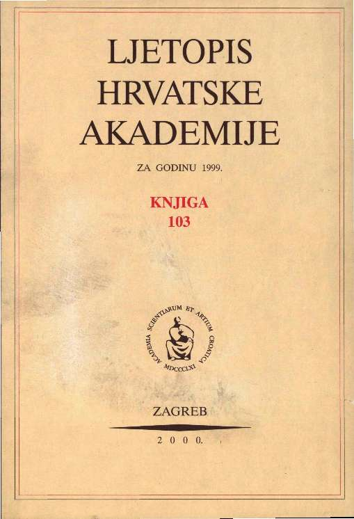 1999. Knj. 103 : Ljetopis