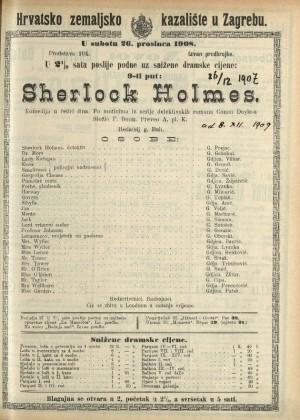 Sherlock Holmes Komedija u četiri čina