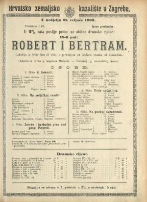 Robert i Bertram Lakrdija u pet slika s pjevanjem