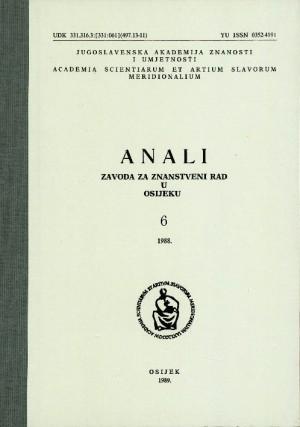 Knj. 6 (1988) : Anali Zavoda za znanstveni i umjetnički rad u Osijeku