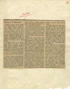 Slučaj A. G. Matoša