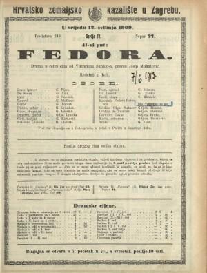 Fedora Drama u 4 čina / od Viktoriena Sardoua
