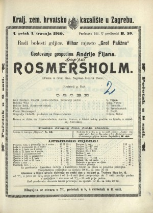 Rosmersholm Drama u četiri čina
