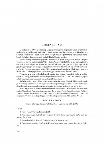 Josip Lisac : Ljetopis