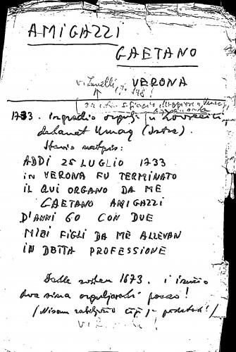 Amigazzi Gaetano Verona