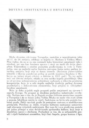 Drvena arhitektura u Hrvatskoj : Bulletin Instituta za likovne umjetnosti Jugoslavenske akademije znanosti i umjetnosti