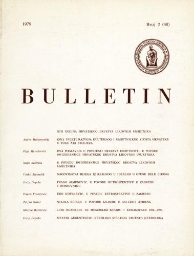 Br. 2(48) (1979) : Bulletin Razreda za likovne umjetnosti Jugoslavenske akademije znanosti i umjetnosti