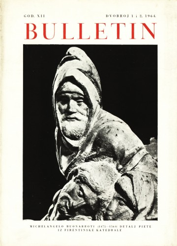 God. 12(1964), Br. 1-2 : Bulletin Zavoda za likovne umjetnosti Jugoslavenske akademije znanosti i umjetnosti