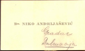 Dr. Niko Andrijašević Gradar Dalmacija