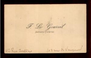 F. Le Gourvil artiste - paintre