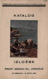 Katalog izložbe prof. Menci Kl. Crnčić