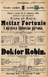 Meštar Fortunio i njegova ljubovna pjesma Šaljiva operetta u jednom činu