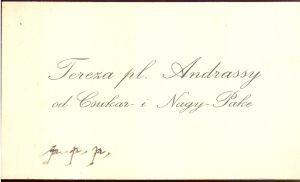 Tereza pl. Andrassy od Csukar i Nagy-Pake