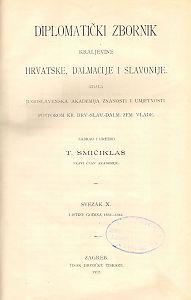 Sv. 10: Listine godina : 1332-1342 : Diplomatički zbornik Kraljevine Hrvatske, Dalmacije i Slavonije