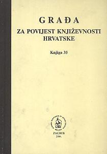 Knj. 35(2006) : Građa za povijest književnosti hrvatske