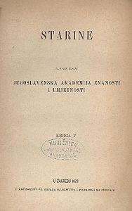 Knj. 5(1873) : Starine