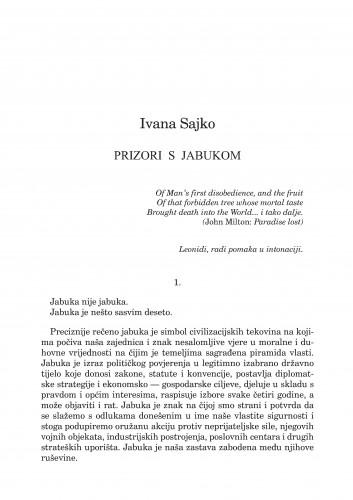Prizori s jabukom : [drama] : Forum : mjesečnik Razreda za književnost Hrvatske akademije znanosti i umjetnosti.
