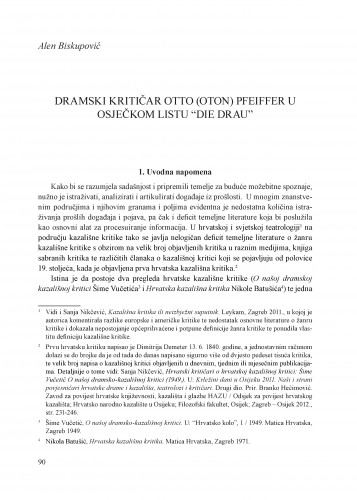 Dramski kritičar Otto (Oton) Pfeiffer u Osječkom listu