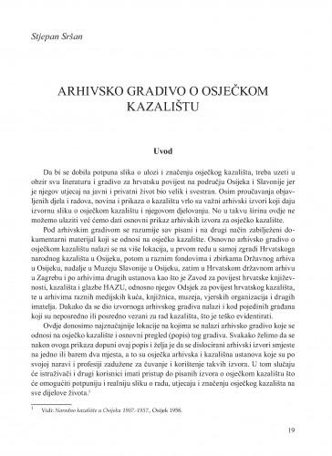 Arhivsko gradivo o osječkom kazalištu : Krležini dani u Osijeku