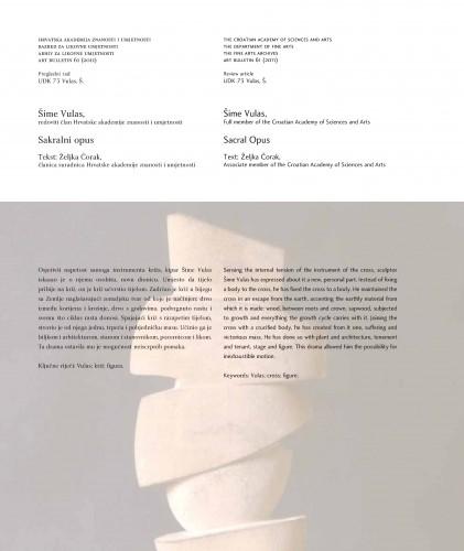 Šime Vulas: Sakralni opus : Sacral opus : Art Bulletin