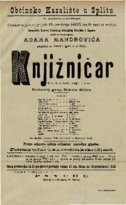 Knjižničar vesela igra u 4 čina / Napisao G. pl. Mozer