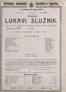Lukavi služnik : opereta u tri čina