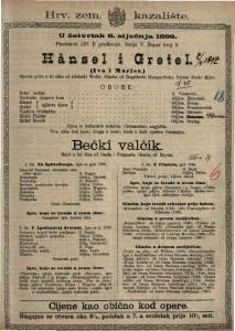 Hänsel i Gretel (Ivo i Marica) Operna priča u tri slike / Glazba od Engelberta Humperdinka