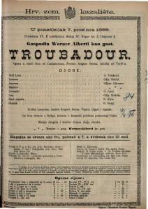 Troubadour Opera u četiri čina / Glazba od Verdia