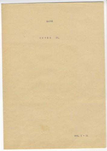 Bilježnica XX. [Notes II. Sa Palatina: desno Kvirinal, beli novi i žuti stari Kapitol]