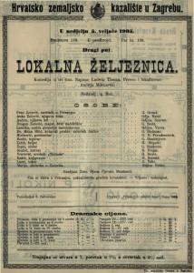 Lokalna željeznica komedija u tri čina / napisao Ludwig Thoma