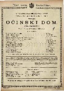 Očinski dom Gluma u 4 čina / od Hermanna Sudermanna  =  Die Heimath