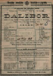Dalibor : opera u tri čina / uglazbio B. Smetana