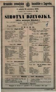 Sirotna djevojka šala s pjevanjem u tri čina, a šest slika / od Krenna i Lindau-a  =  Ein armes Mädel