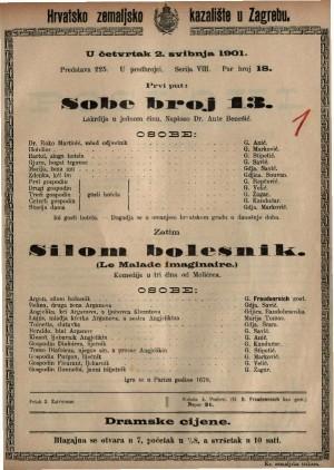 Sobe broj 13 : lakrdija u jednom činu / napisao Dr. Ante Benešić