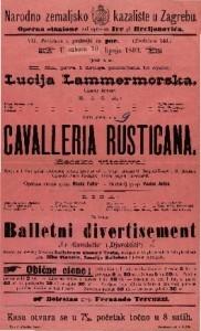 Cavalleria Rusticana. Seosko vitežtvo. Opera u 1 činu / Uglasbio Pietro Mascagni