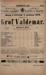 Grof Valdemar igrokaz u 5 činah / napisao Gustav Freytag