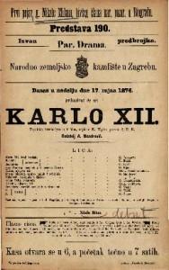 Karlo XII. vojnička vesela igra u 4 čina / napisao K. Töpfer