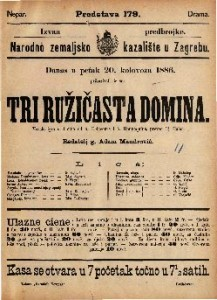 Tri ružičasta domina Vesela igra u 3 čina / od A. Delacoura i A. Hennequina