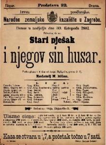 Stari pješak i njegov sin husar : pučka gluma u 3 čina / od Josipa Sigligeti-a