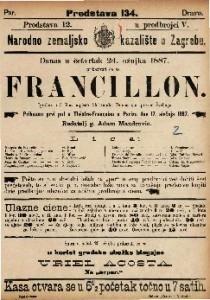 Francillon Igrokaz u 3 čina / napisao Alexander Dumas sin