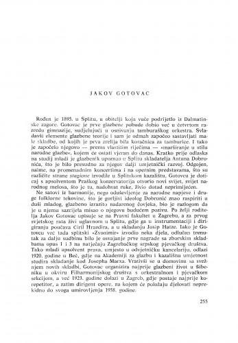 Jakov Gotovac : [biografije novih članova Akademije]