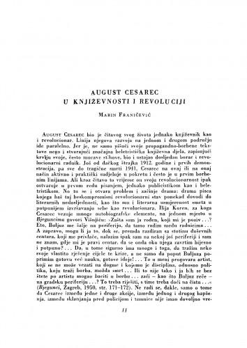 August Cesarec u književnosti i revoluciji