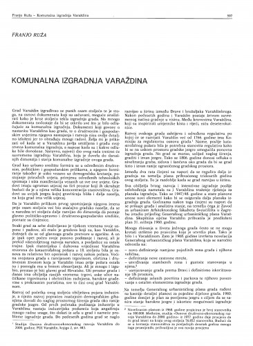 Komunalana izgradnja Varaždina