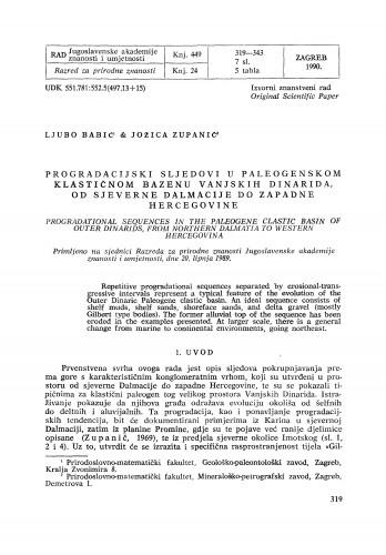 Progradacijski sljedovi u paleogenskom klastičnom bazenu Vanjskih Dinarida, od sjeverne Dalmacije do zapadne Hercegovine