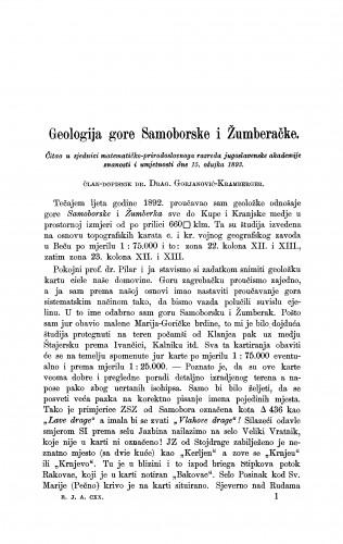 Geologija gore Samoborske i žumberačke