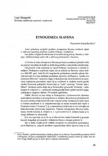 Etnogeneza Slavena