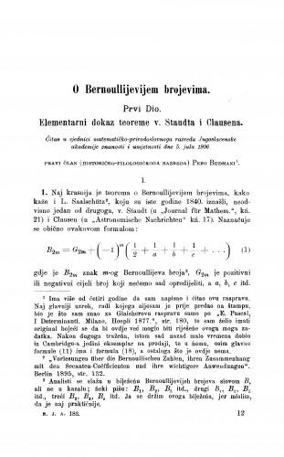 O Bernoullijevijem brojevima