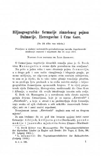 Biljnogeografske formacije zimzelenog pojasa Dalmacije, Hercegovine i Crne Gore